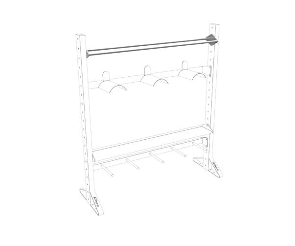 Olive Multiple Rack Ball Shelf Product 2