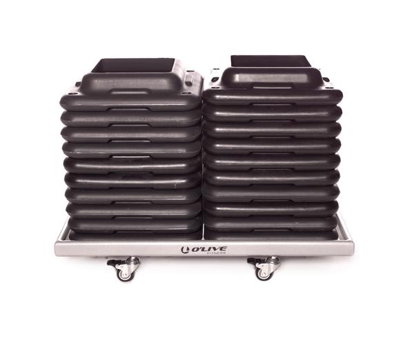 Olive Platform Step Block Rack Product