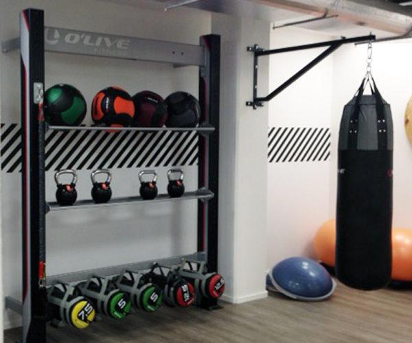 Lagerung von Fitnessgeräten